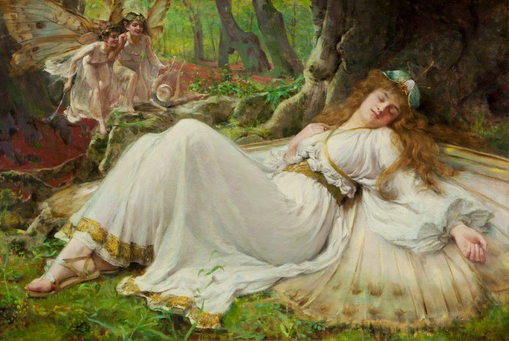 Frederick Howard Michael (1865–1936), Titania, 1897, huile sur toile, collection privée.