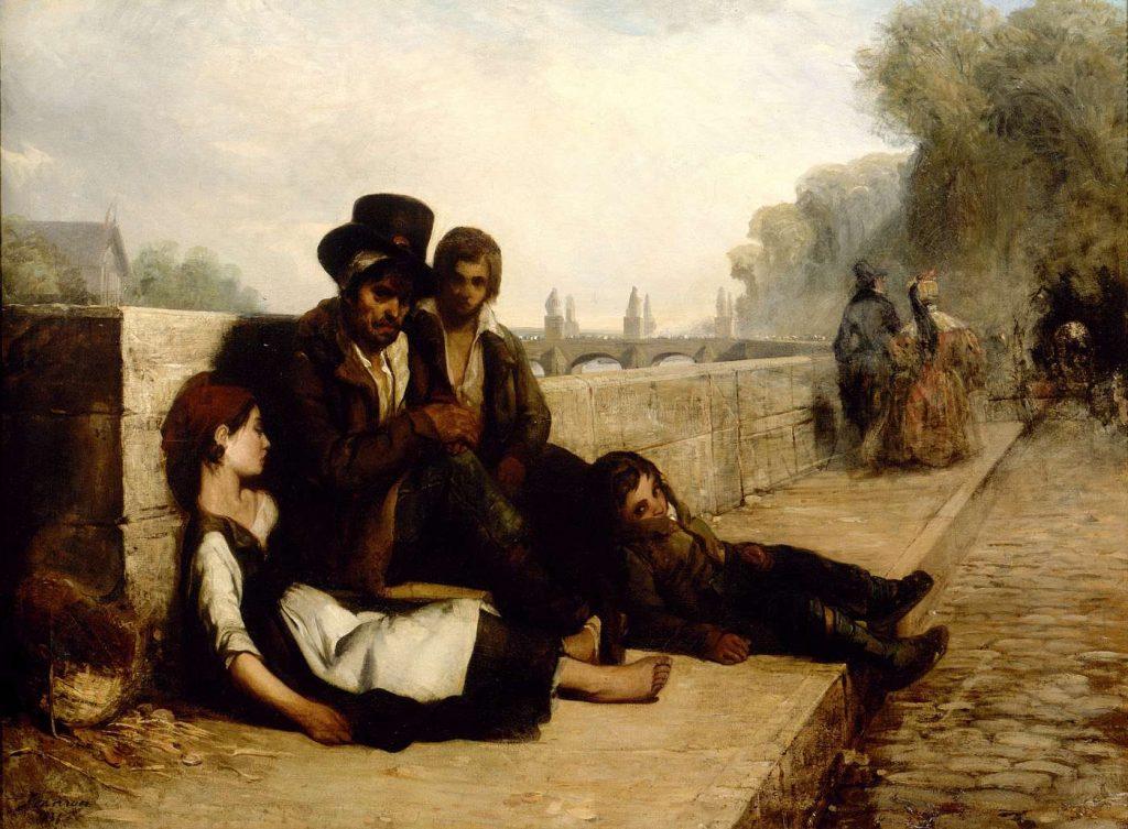 Philippe-Auguste Jeanron (1808–1877), Scène de Paris, 1833, huile sur toile, musée des beaux-arts de Chartres.