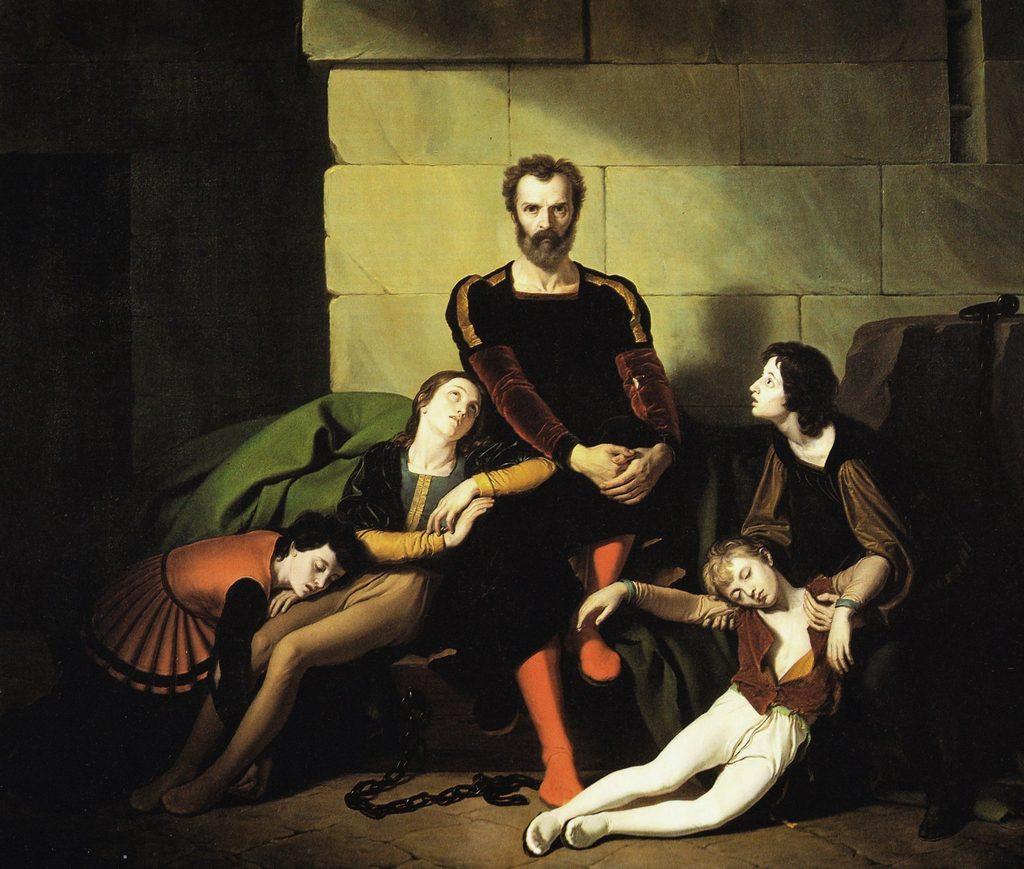 Giuseppe Diotti (1779-1816), Ugolin et ses fils, après 1800, huile sur toile, Museo di Santa Giulia, Brescia.