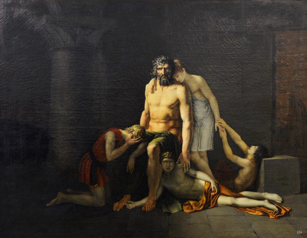 Fortuné Dufau (1770-1821), La mort d'Ugolin, 1835, huile sur toile © Musée de Valence, photo Eric Caillet